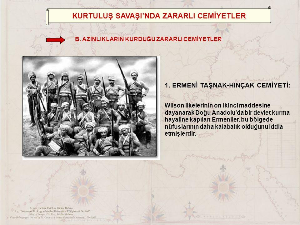 KURTULUŞ SAVAŞI'NDA YARARLI CEMİYETLER 7.