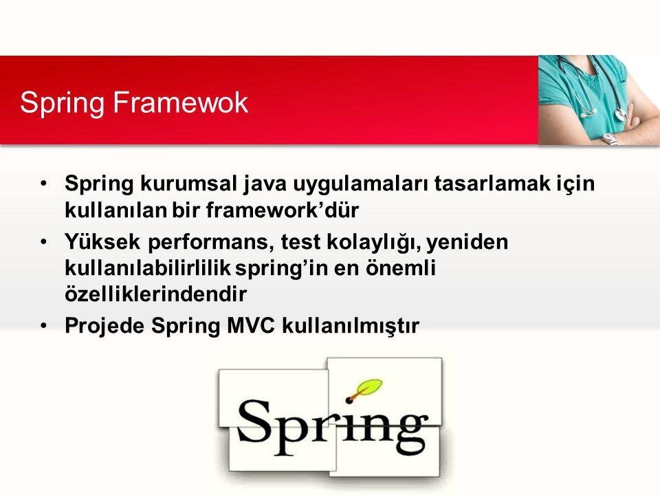 Spring kurumsal java uygulamaları tasarlamak için kullanılan bir framework'dür Yüksek performans, test kolaylığı, yeniden kullanılabilirlilik spring'i