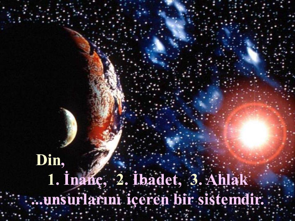 Din Din, İlk insan olan Hz. Adem'le birlikte ortaya çıkmıştır.