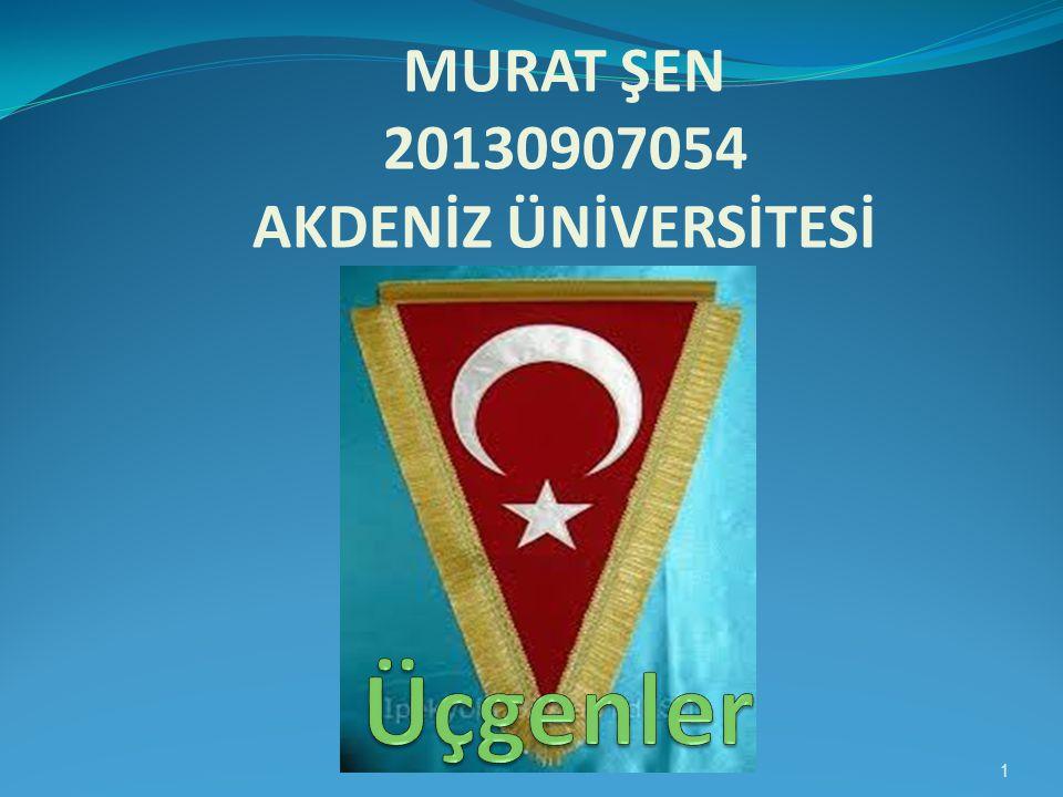 MURAT ŞEN 20130907054 AKDENİZ ÜNİVERSİTESİ 1