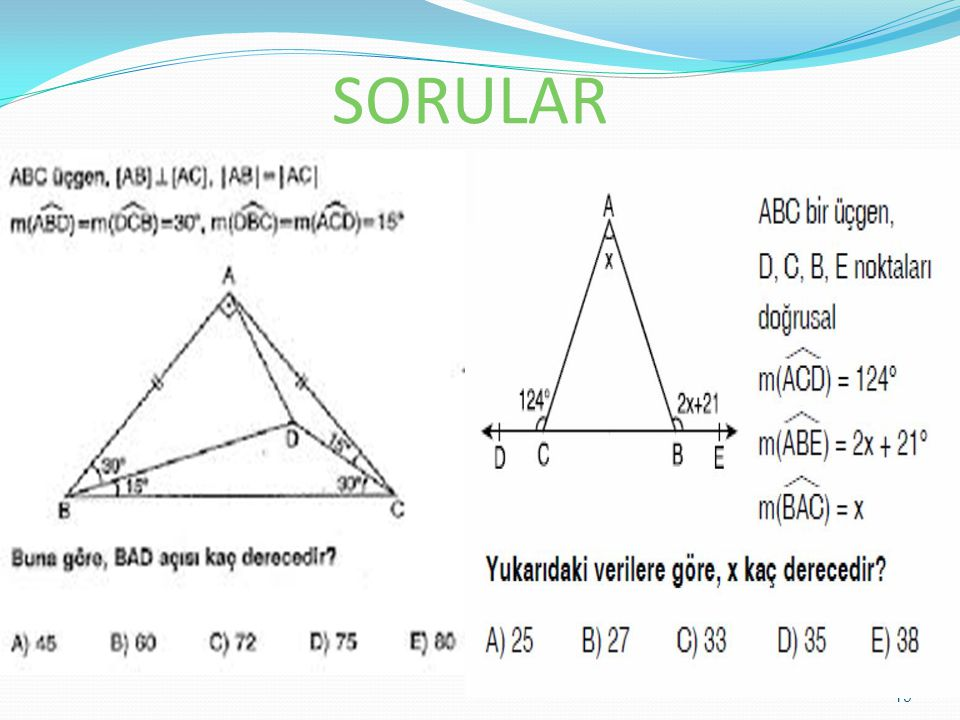 SORULAR 19