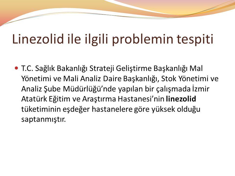Linezolid ile ilgili problemin tespiti T.C. Sağlık Bakanlığı Strateji Geliştirme Başkanlığı Mal Yönetimi ve Mali Analiz Daire Başkanlığı, Stok Yönetim