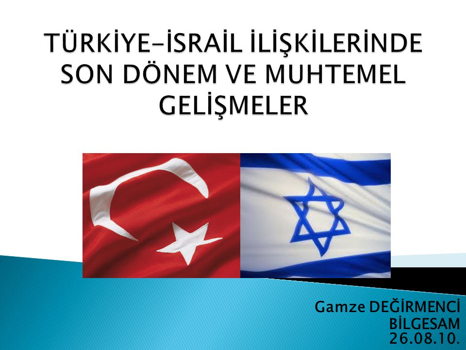 Dış Faktörler:  Son günlerde görüşmelerin yeniden başladığı İsrail ve Filistin arasındaki sorunların üzerinde sağlanacak uzlaşı Türkiye için çok önemlidir.