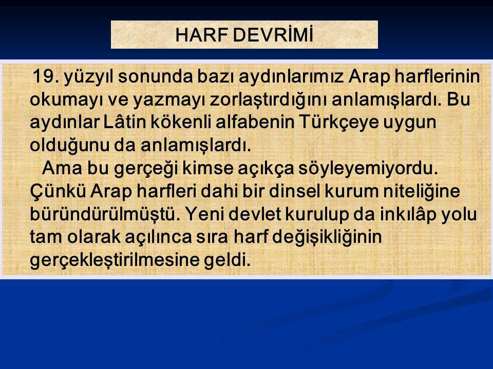 HARF DEVRİMİ 19.
