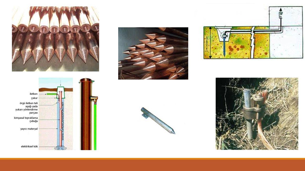 3) Şerit Topraklayıcı ►Şerit, yuvarlak iletken ya da örgülü iletkenden yapılan ve genellikle derine gömülmeyen topraklayıcılardır.