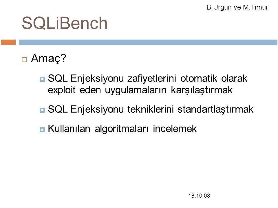 18.10.08 SQLiBench  Amaç.