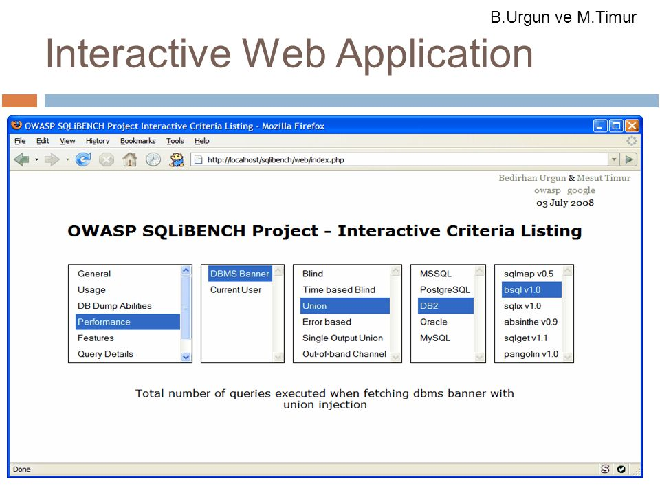 18.10.08 Interactive Web Application B.Urgun ve M.Timur