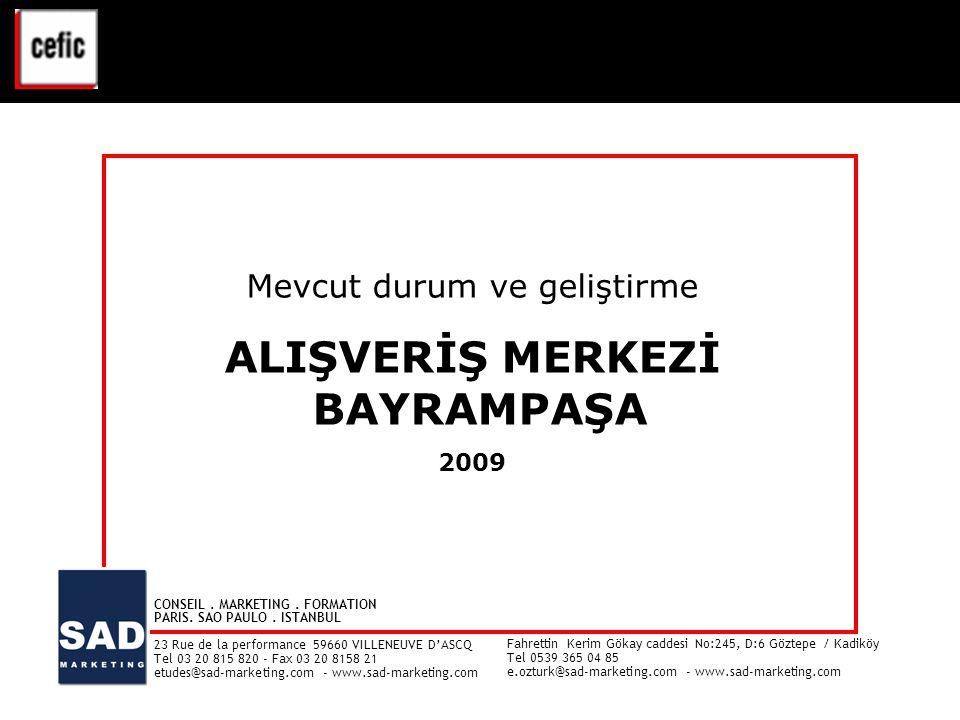 1 BAYRAMPAŞA ALIŞVERİŞ MERKEZİ – Mevcut durum ve geliştirme - 2009 VAL D'EUROPE - ETUDE CLIENTELE - Juin 2008 1 CONSEIL.