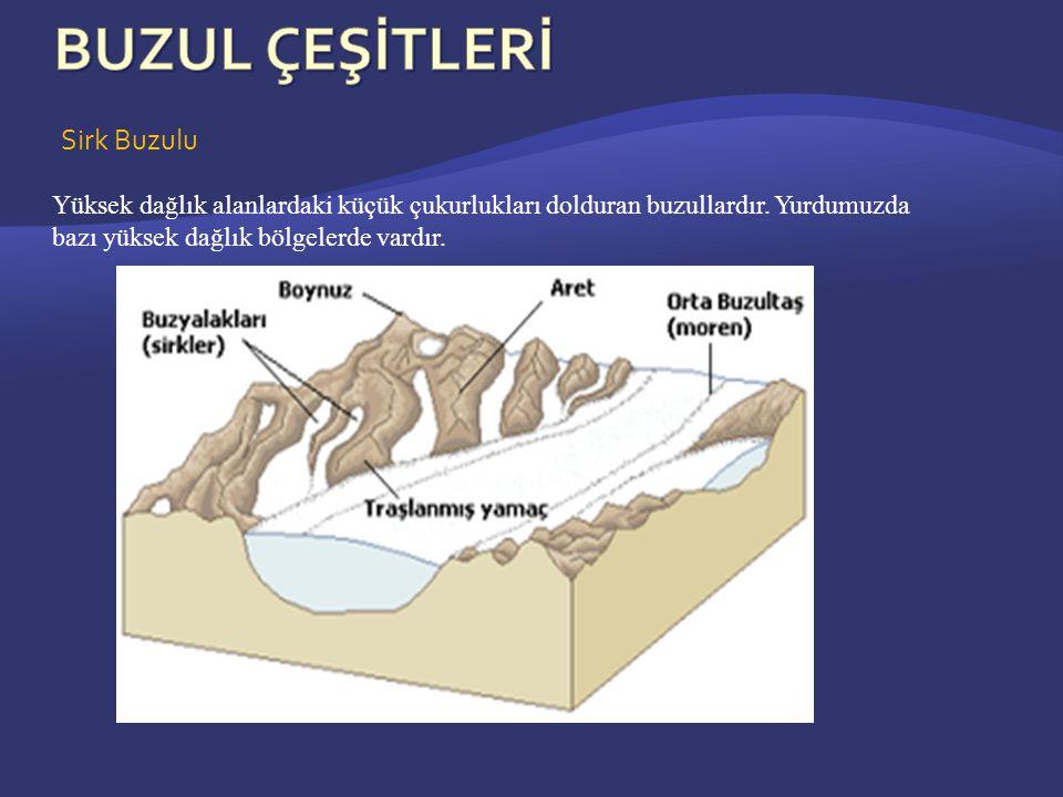Sirk Buzulu Yüksek dağlık alanlardaki küçük çukurlukları dolduran buzullardır.