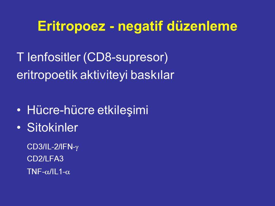 rHuEPO direnci sebepleri Demir eksikliği Vit B12 eksikliği Folik asit eksikliği Diyaliz yetersizliği Sekonder hiperparatiroidizm Alüminyum intoksikasyonu İnfeksiyon/İnflamasyon/Malnutrisyon ACEi/ARB'ler Genetik özellikler?