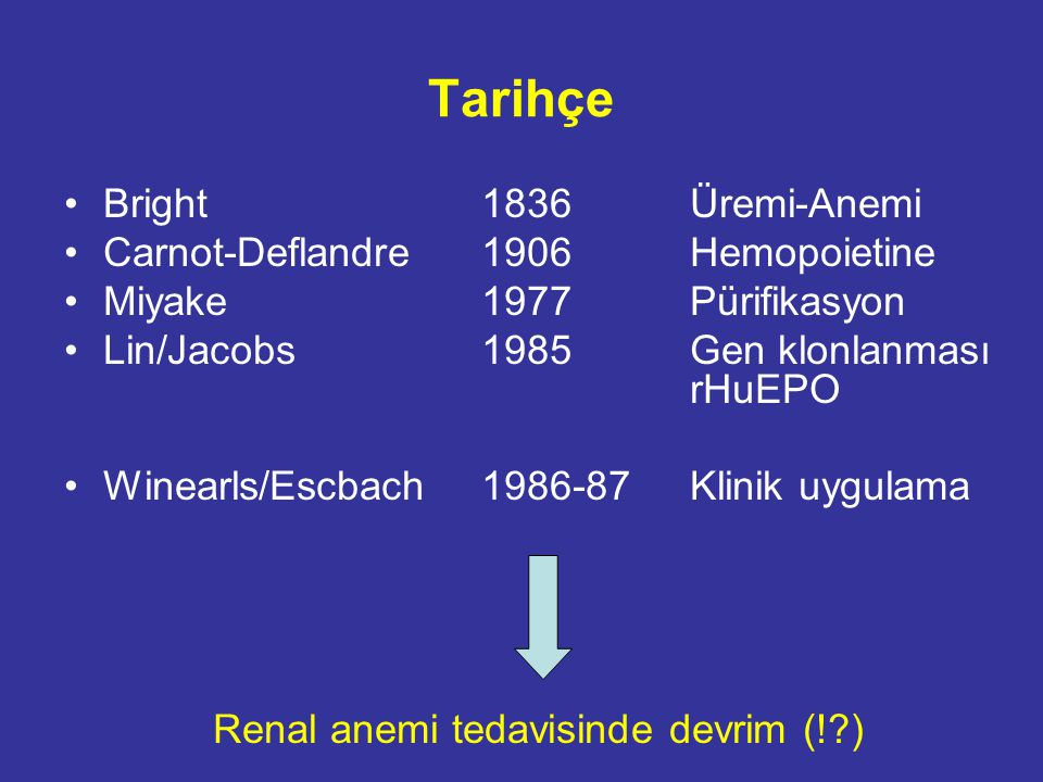 KBH'de Anemi prevalansı 1.058 hasta, ortalama yaş 66 yıl.