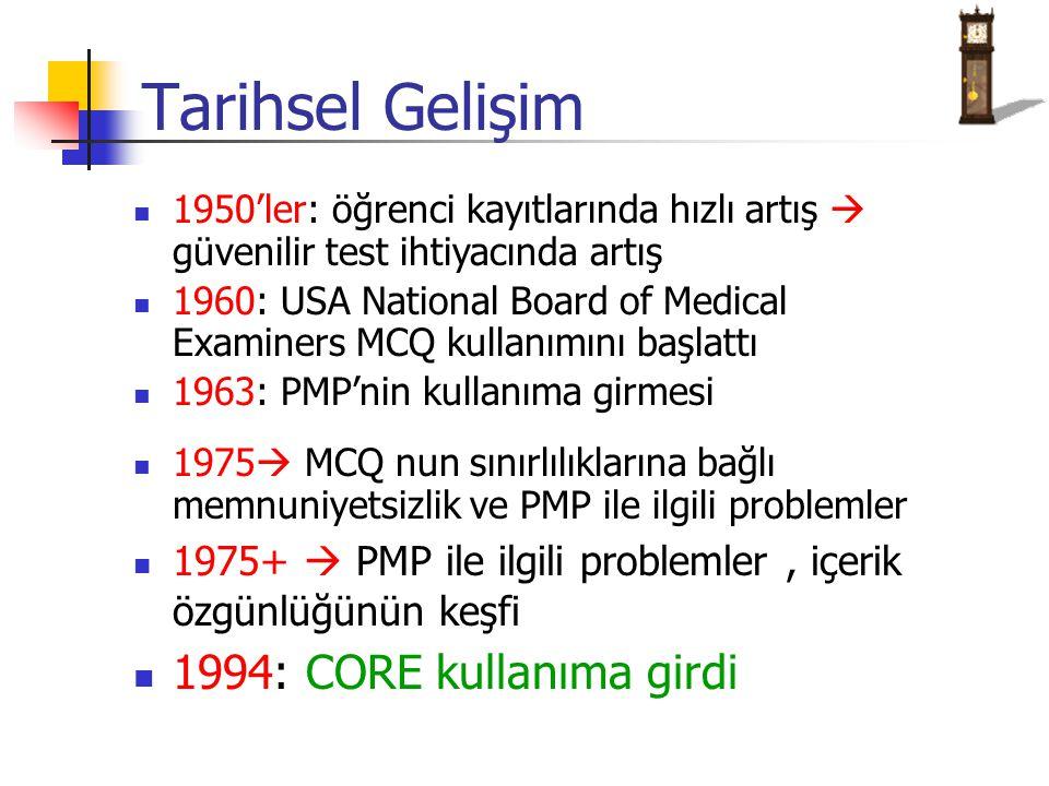 Kliniğe Yönelik Mantık Yürütmeyi Değerlendirmede PMP'ler Kliniğe Yönelik Mantık Yürütme Sınavı February 2002: Y.