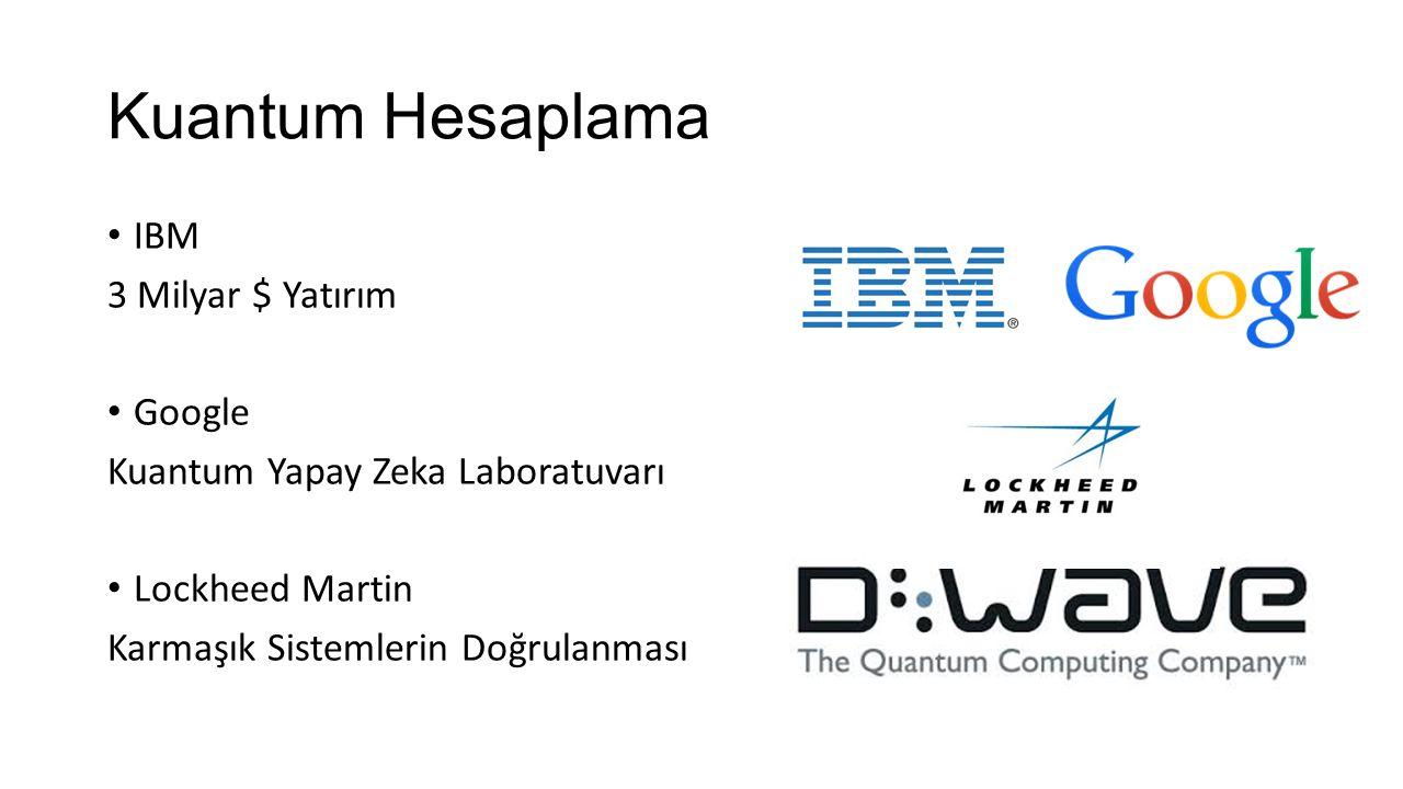 Kuantum Hesaplama IBM 3 Milyar $ Yatırım Google Kuantum Yapay Zeka Laboratuvarı Lockheed Martin Karmaşık Sistemlerin Doğrulanması