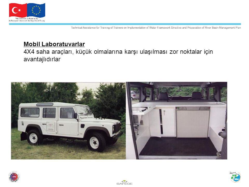 Mobil Laboratuvarlar 4X4 saha araçları, küçük olmalarına karşı ulaşılması zor noktalar için avantajlıdırlar