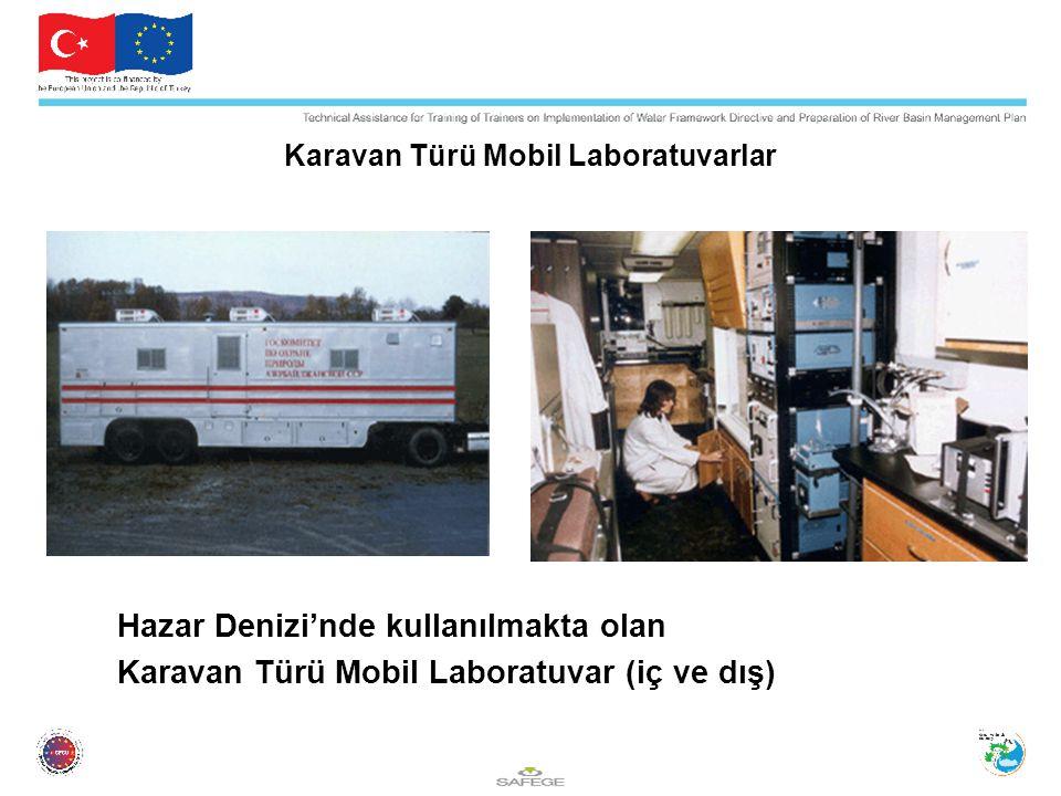 Karavan Türü Mobil Laboratuvarlar Hazar Denizi'nde kullanılmakta olan Karavan Türü Mobil Laboratuvar (iç ve dış)