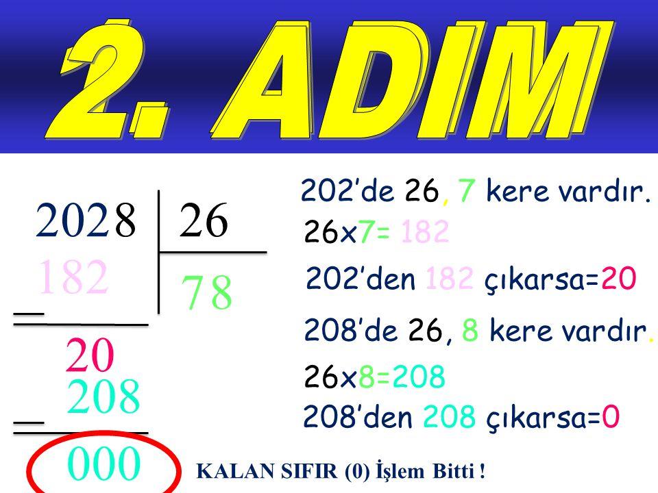 5202 Artık işlem bu kadar basit. 520 / 2 = 260
