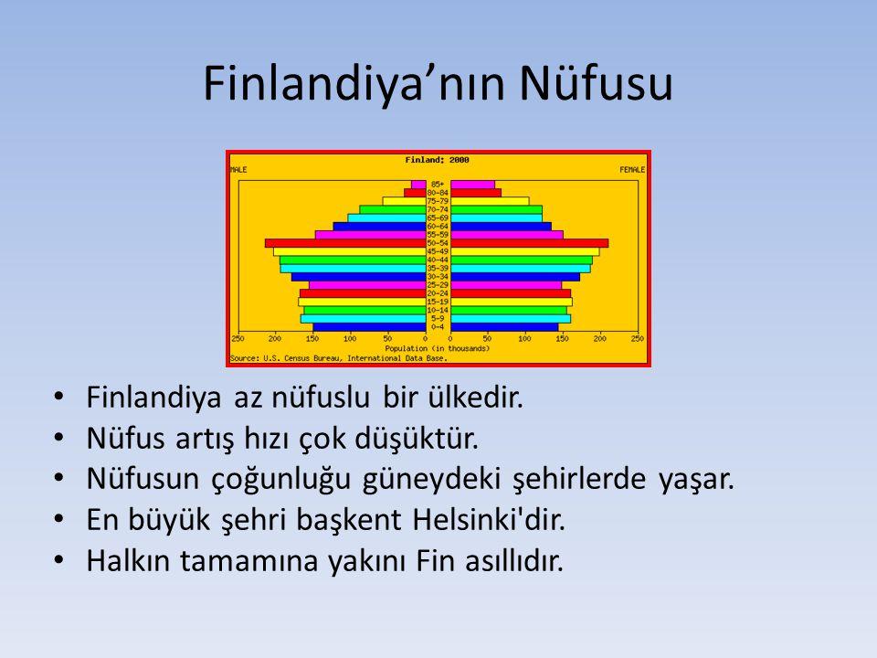 Finlandiya'nın Nüfusu Finlandiya az nüfuslu bir ülkedir.
