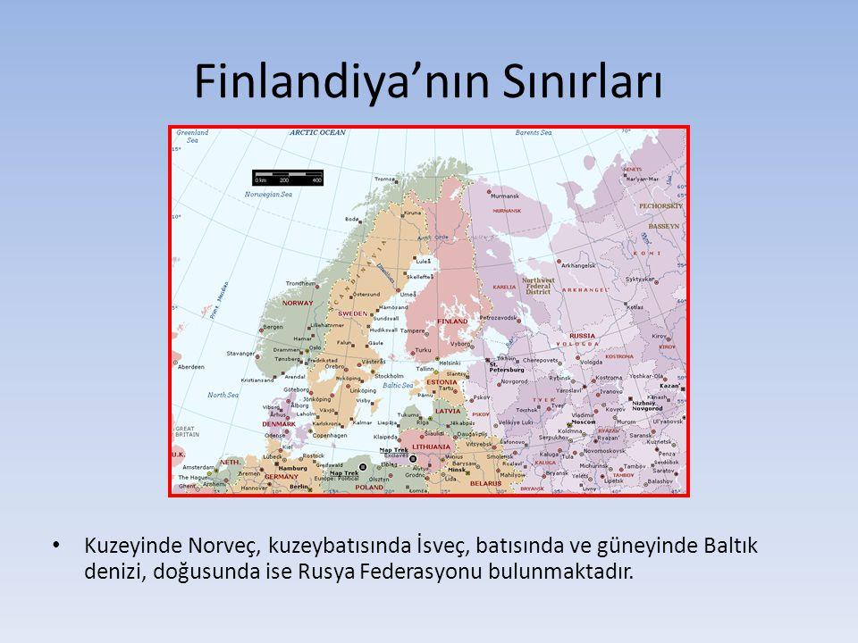 Finlandiya'nın Sınırları Kuzeyinde Norveç, kuzeybatısında İsveç, batısında ve güneyinde Baltık denizi, doğusunda ise Rusya Federasyonu bulunmaktadır.