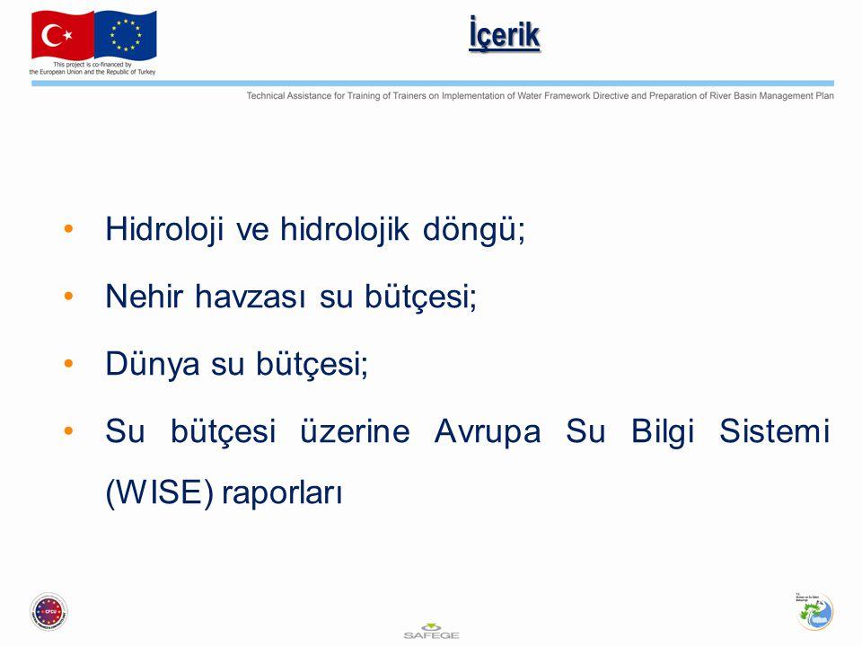 İçerik Hidroloji ve hidrolojik döngü; Nehir havzası su bütçesi; Dünya su bütçesi; Su bütçesi üzerine Avrupa Su Bilgi Sistemi (WISE) raporları