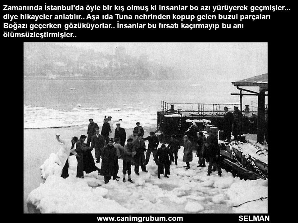 www.canimgrubum.com SELMAN Zamanında İstanbul'da öyle bir kış olmuş ki insanlar bo azı yürüyerek geçmişler... diye hikayeler anlatılır.. Aşa ıda Tuna