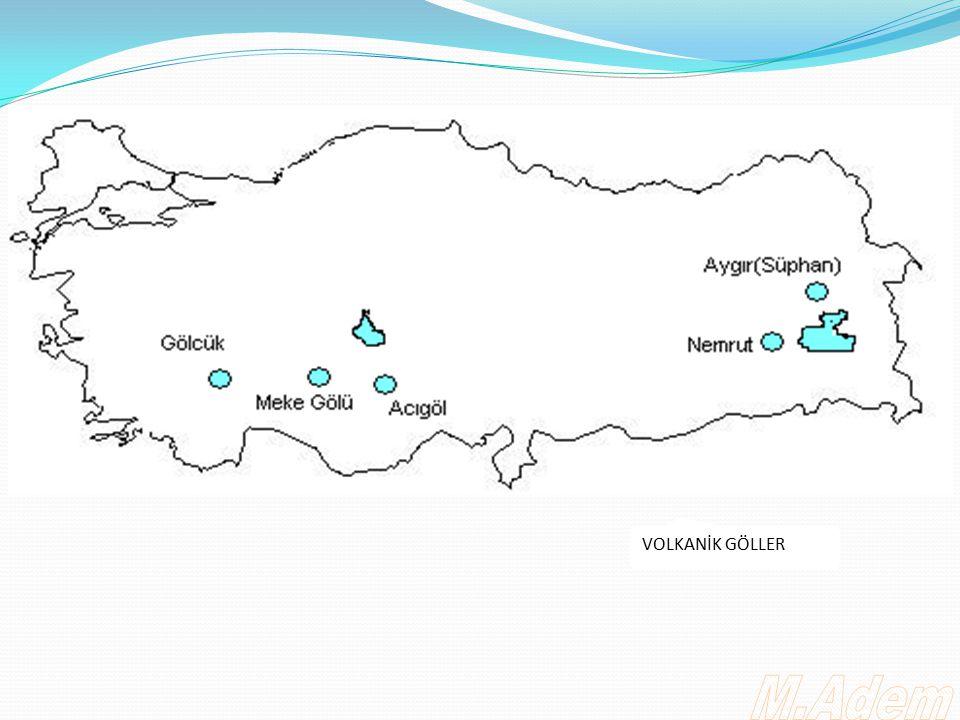 KARSTİK GÖLLER Karstik göller jeolojik yapı nedeniyle en çok Akdeniz Bölgesinde görülür.