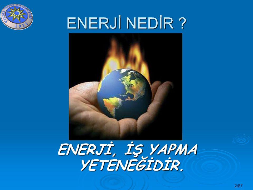 23/87 KÜRESEL ISINMA Küresel Isınmanın oluşumunda Sera Etkisi nin rolü büyüktür.