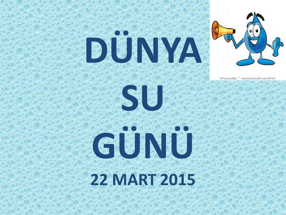 DÜNYA SU GÜNÜ 22 MART 2015
