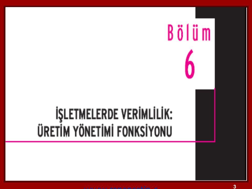 14 2.ÜRETİM SİSTEMLERİNİN SINIFLANDIRILMASI 2.1.1.