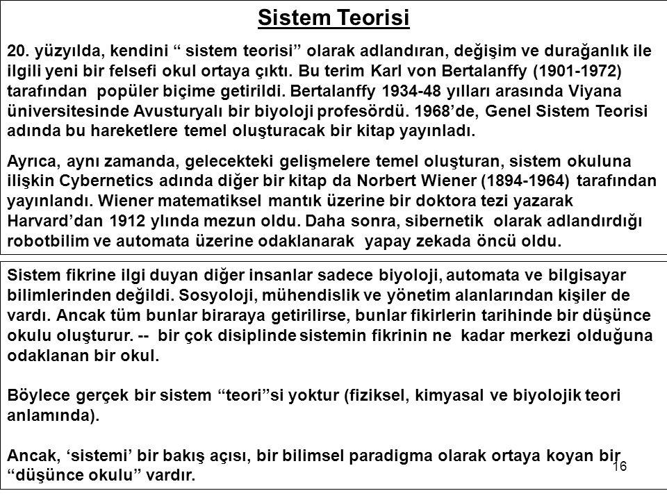 16 Sistem Teorisi 20.
