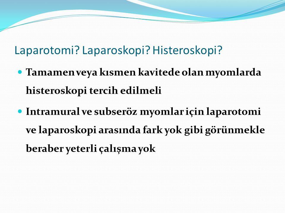Laparotomi.Laparoskopi. Histeroskopi.