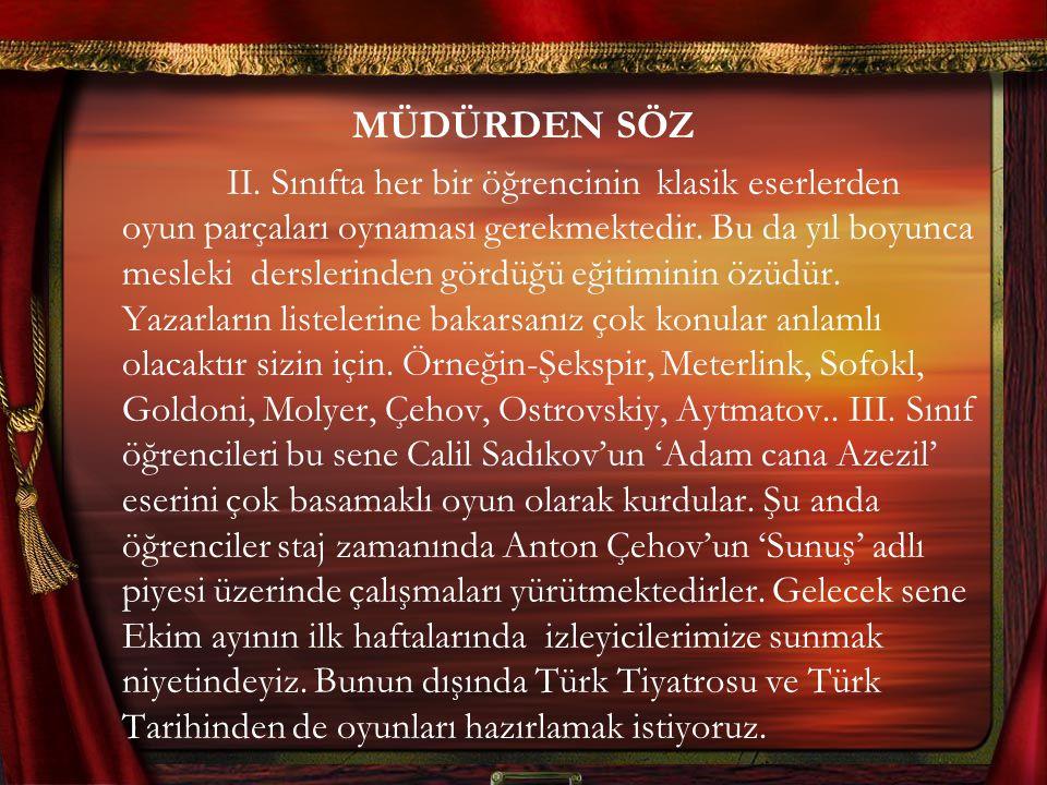 MÜDÜRDEN SÖZ II.