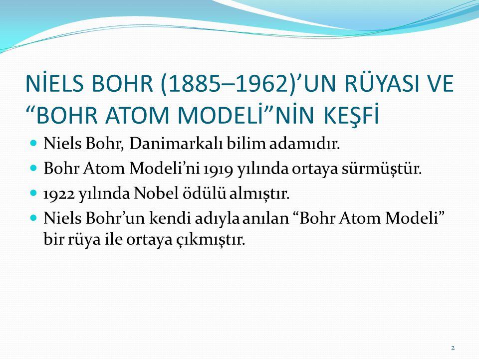 """NİELS BOHR (1885–1962)'UN RÜYASI VE """"BOHR ATOM MODELİ""""NİN KEŞFİ Niels Bohr, Danimarkalı bilim adamıdır. Bohr Atom Modeli'ni 1919 yılında ortaya sürmüş"""