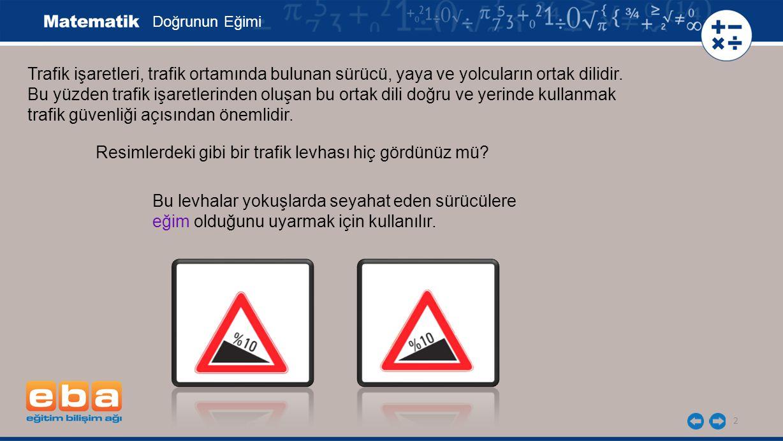 2 Trafik işaretleri, trafik ortamında bulunan sürücü, yaya ve yolcuların ortak dilidir. Bu yüzden trafik işaretlerinden oluşan bu ortak dili doğru ve