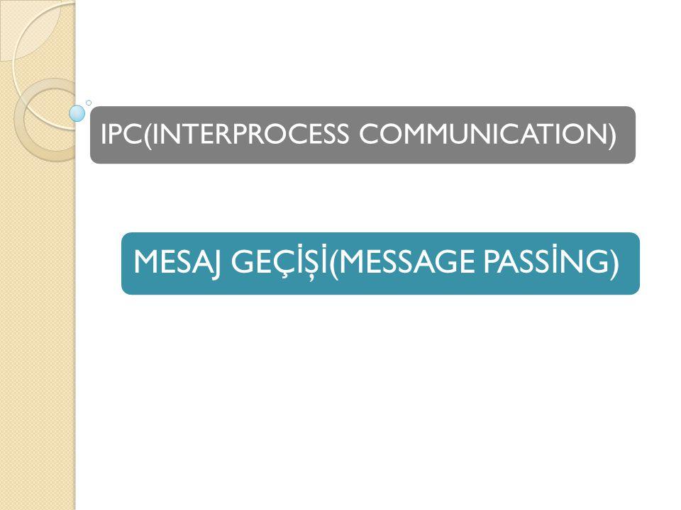  Süreçler için Mekanizma iletişim ve eylemlerini senkronize etmek.
