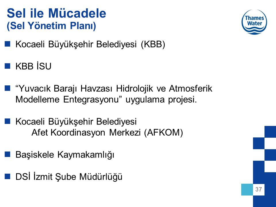 """37 Sel ile Mücadele (Sel Yönetim Planı) Kocaeli Büyükşehir Belediyesi (KBB) KBB İSU """"Yuvacık Barajı Havzası Hidrolojik ve Atmosferik Modelleme Entegra"""