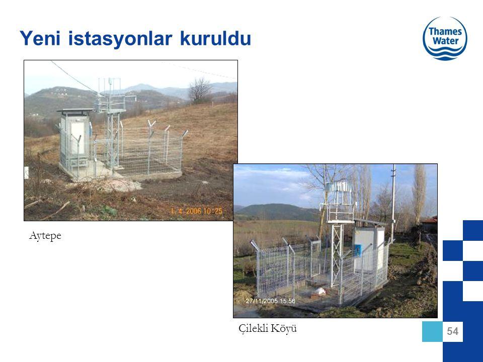 54 Yeni istasyonlar kuruldu Aytepe Çilekli Köyü