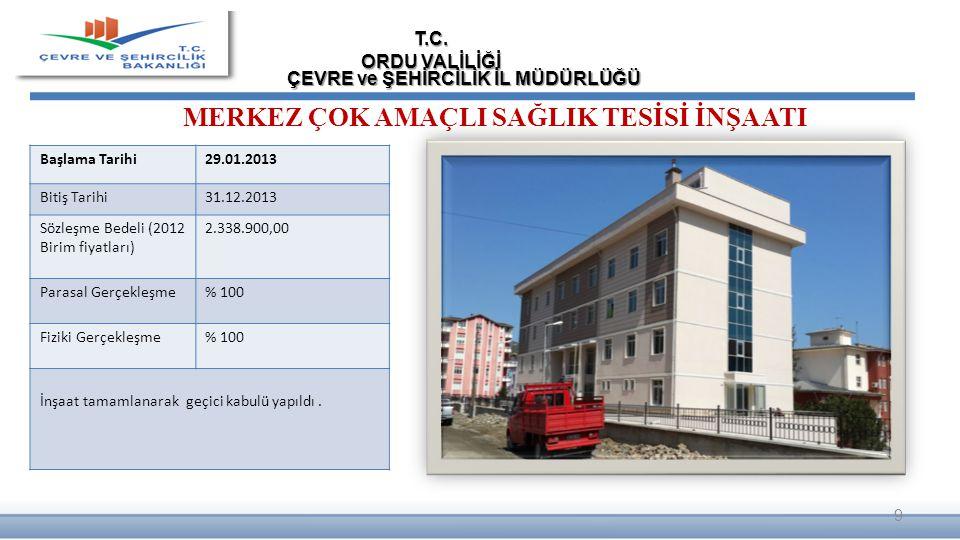 Fatsa ilçesi EVKAF Mahallesine ait RİSKLİ ALAN (163.561 m2) dosyası hazırlanmış ve Bakanlığımıza gönderilmiştir.