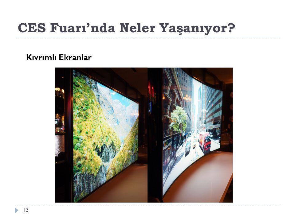 CES Fuarı'nda Neler Yaşanıyor 13 Kıvrımlı Ekranlar