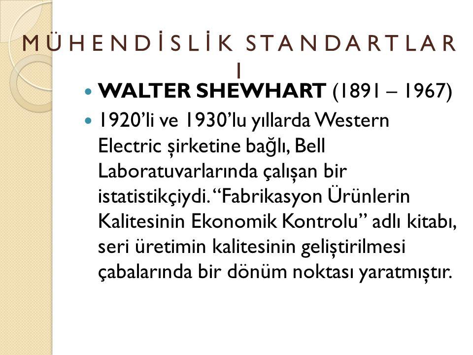 EDWARD DEMING ( 1900 – 1993 ) DEMING' İ N YED İ ÖLÜMCÜL HASTALIK TANIMI M Ü H E N D İ S L İ K S T A N D A R T L A R I