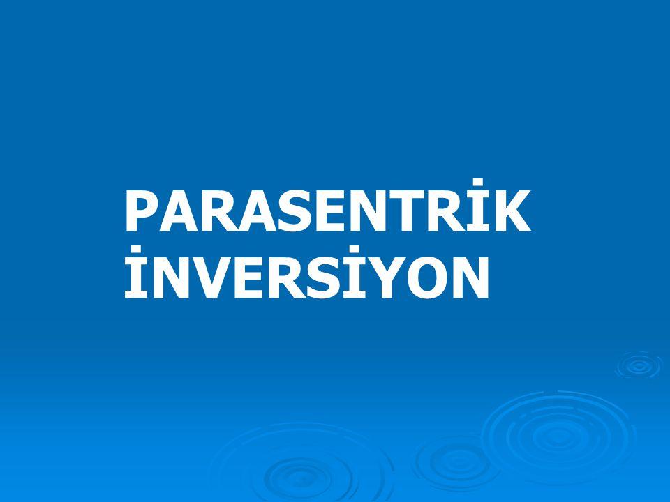 4) inversiyon  İnversiyon olayı mayoz sırasında oluşan krossing over sonucu bazı dengesizliklere neden olmaktadır. Parasentrik inversiyon, bir krossi