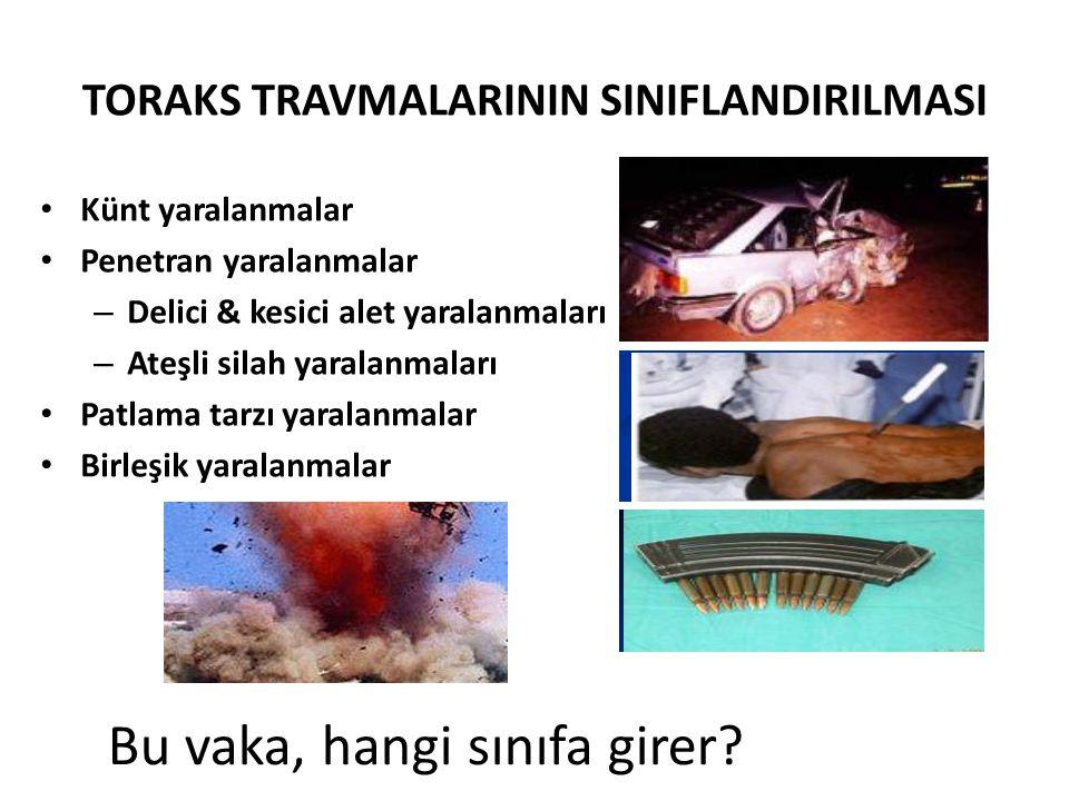 TORAKS TRAVMASI 1.GÖĞÜS DUVARI 2. AKCİĞER (PLEVRA-PARANKİM) 3.