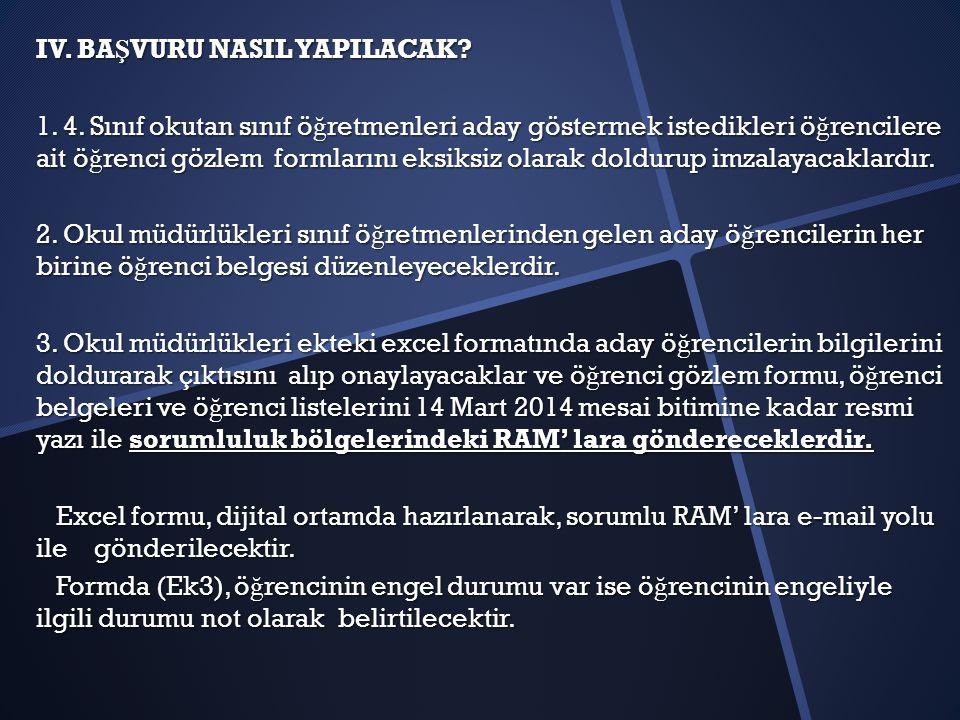 IV.BA Ş VURU NASIL YAPILACAK. 1. 4.