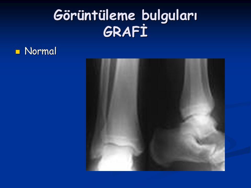 Görüntüleme bulguları GRAFİ Normal Normal