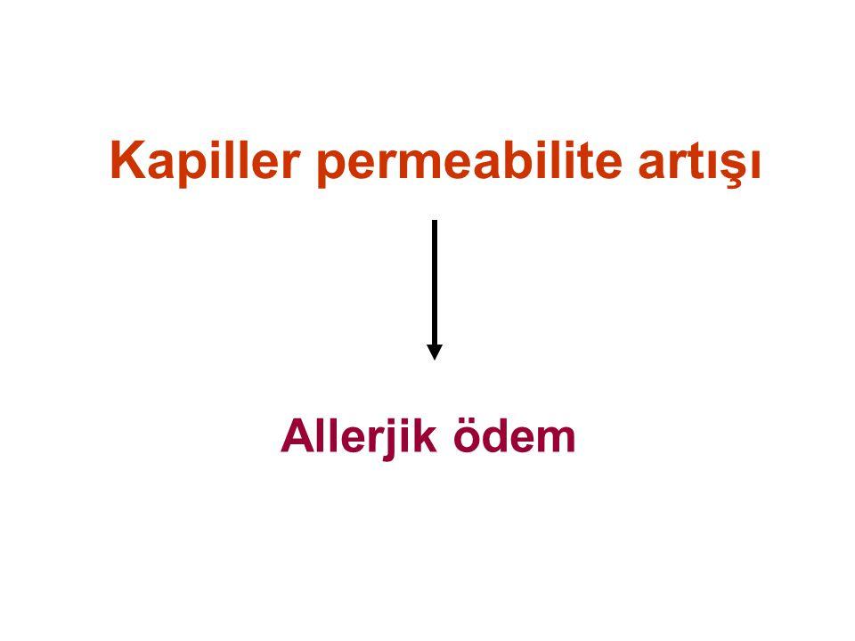 Kapiller permeabilite artışı Allerjik ödem