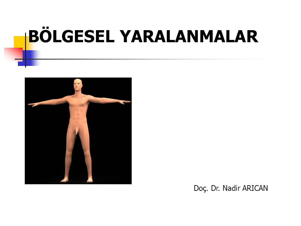BÖLGESEL YARALANMALAR Doç. Dr. Nadir ARICAN