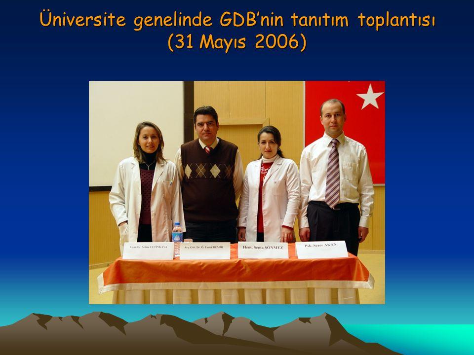 Üniversite genelinde GDB'nin tanıtım toplantısı (31 Mayıs 2006)