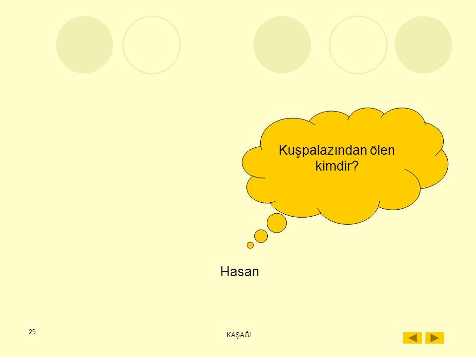 28 KAŞAĞI Hasan'ın annesi kaşağıyı nereden almıştır? İstanbul