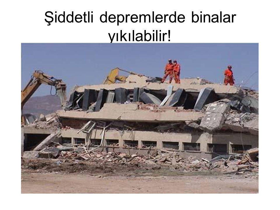 Şiddetli depremlerde binalar yıkılabilir!