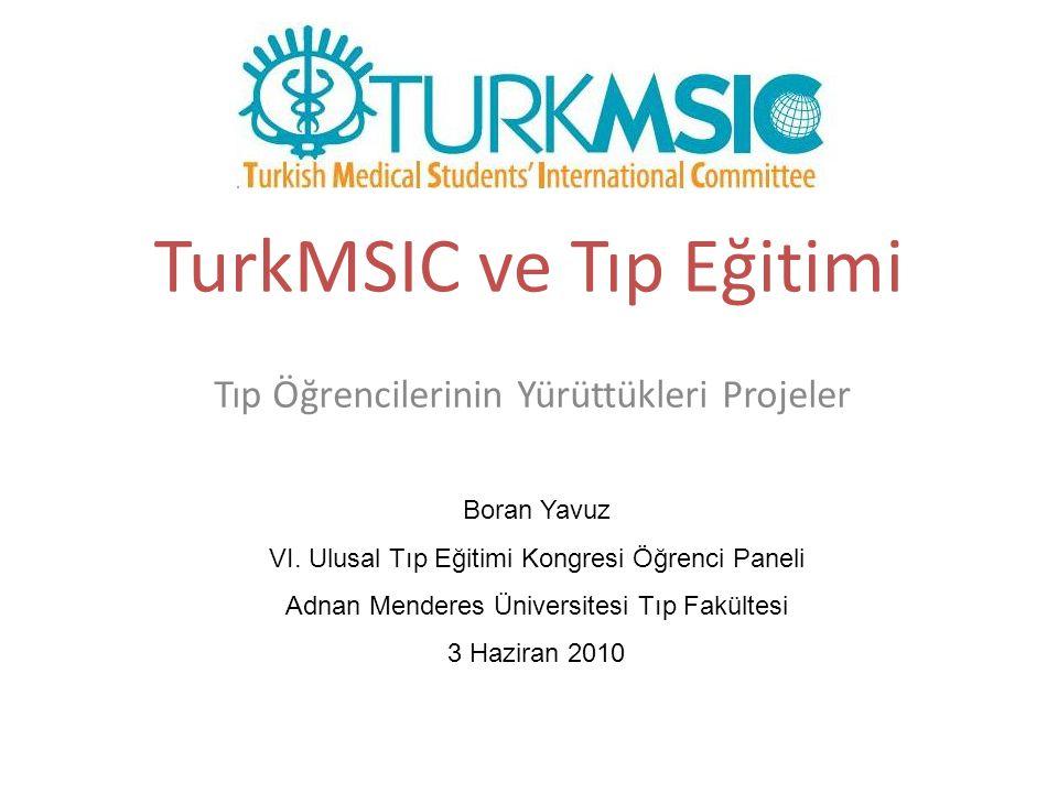 TurkMSIC ve Tıp Eğitimi Tıp Öğrencilerinin Yürüttükleri Projeler Boran Yavuz VI. Ulusal Tıp Eğitimi Kongresi Öğrenci Paneli Adnan Menderes Üniversites