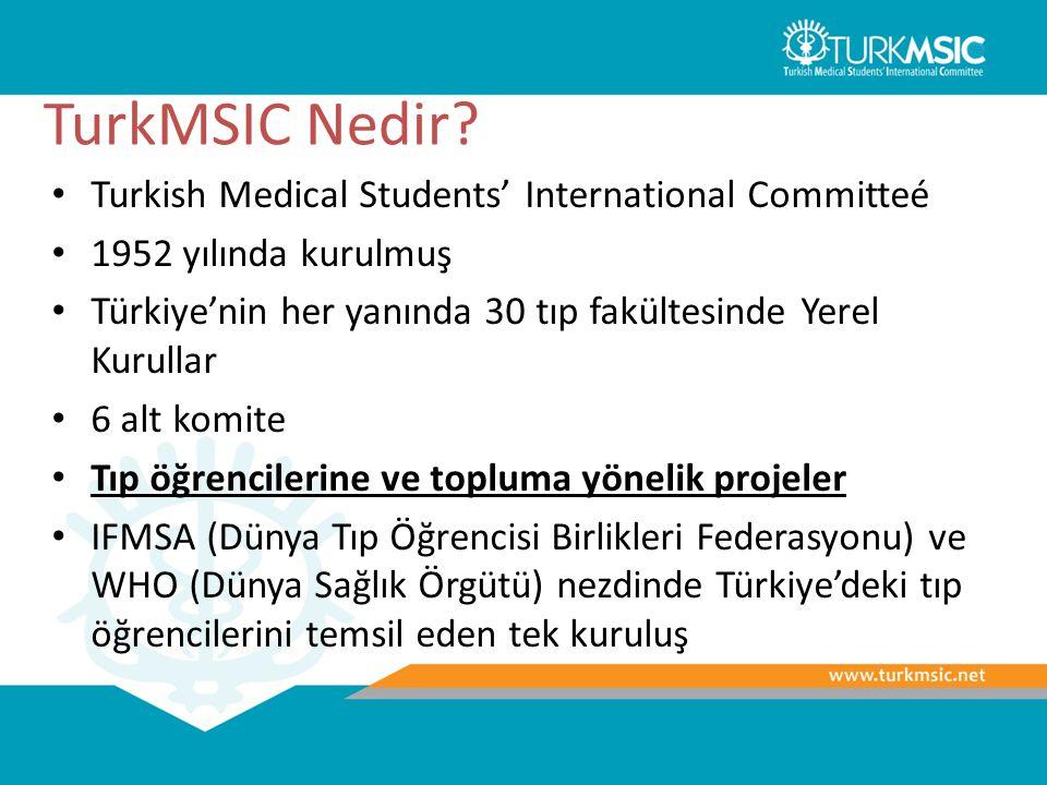TurkMSIC Nedir? Turkish Medical Students' International Committeé 1952 yılında kurulmuş Türkiye'nin her yanında 30 tıp fakültesinde Yerel Kurullar 6 a